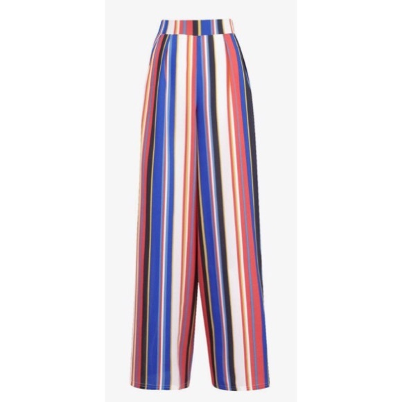 9a1b9e0e3e4c Boohoo Pants | Zendaya Edit Wide Leg Tie Waist Striped Trouser ...